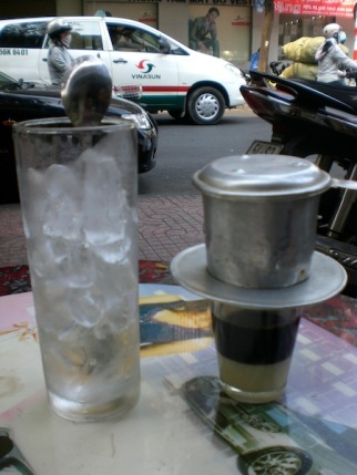 This was how they served coffee in most coffee shop.